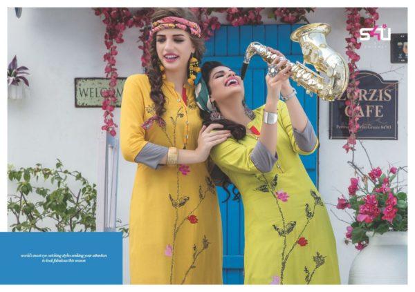 S4U Judwa Rayon Fabric Multicolor Traditional Kurti Catalogue Wholesale Surat (2)