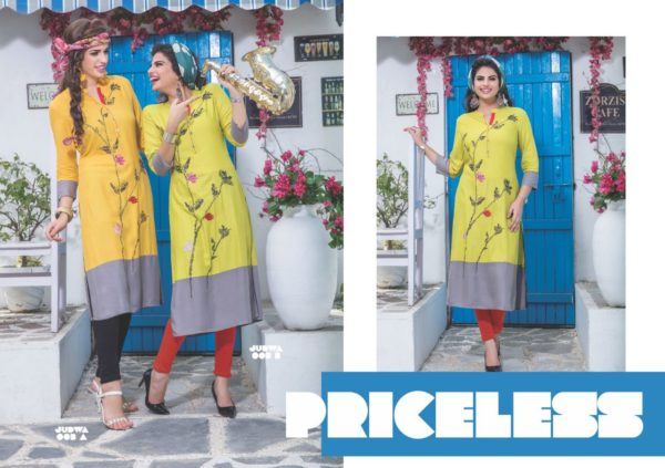 S4U Judwa Rayon Fabric Multicolor Traditional Kurti Catalogue Wholesale Surat (6)