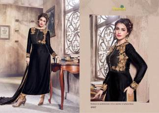 Velvet Embroidered Black Color Designer Dress Maisha Maskeen 4907