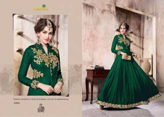 Velvet Embroidered Green Color Designer Dress Maisha Maskeen 4905
