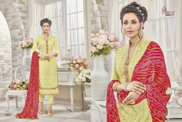 First Choice Vol-18 by Shree Fabs Salwar Suit Full Wholesale Catalogue details 1207