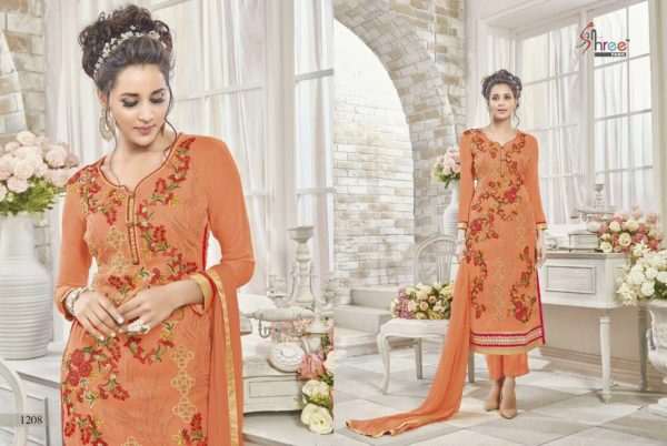 First Choice Vol-18 by Shree Fabs Salwar Suit Full Wholesale Catalogue details 1208
