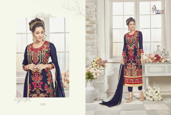 First Choice Vol-18 by Shree Fabs Salwar Suit Full Wholesale Catalogue details 1209