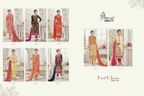 First Choice Vol-18 by Shree Fabs Salwar Suit Full Wholesale Catalogue details