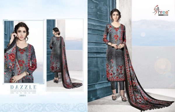 Shree Fabs Gulmohar Winter Shawl Collection Salwar Suit Catalog Full Set Surat Wholesale details 3001