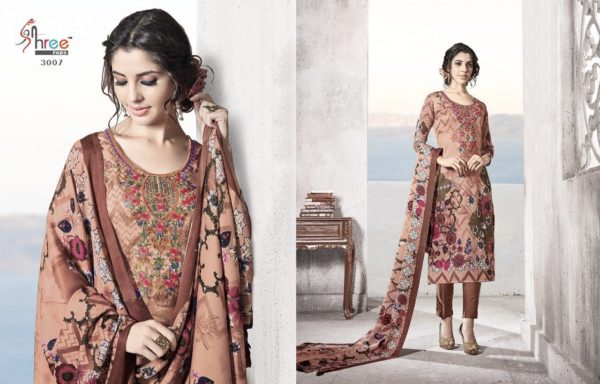 Shree Fabs Gulmohar Winter Shawl Collection Salwar Suit Catalog Full Set Surat Wholesale details 3007