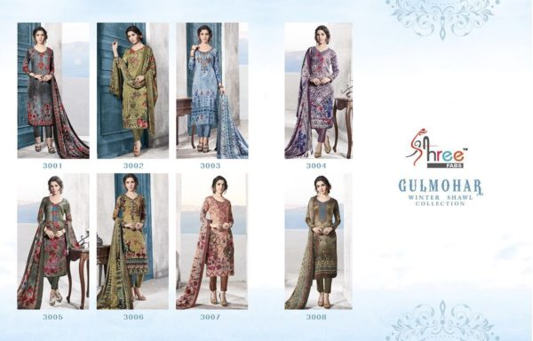 Shree Fabs Gulmohar Winter Shawl Collection Salwar Suit Catalog Full Set Surat Wholesale details