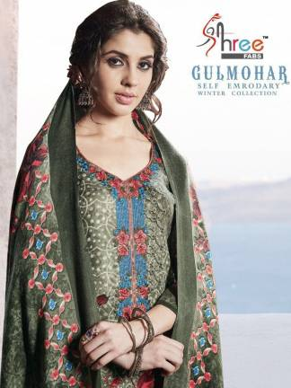 Shree Fabs Gulmohar Winter Shawl Collection Salwar Suit Catalog Full Set Surat Wholesale