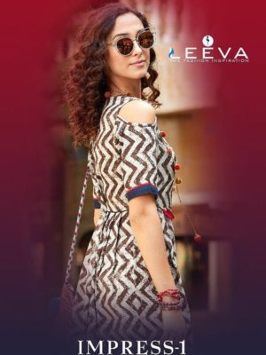 impress vol-1 by leeva kurti design catalogue surat wholesale