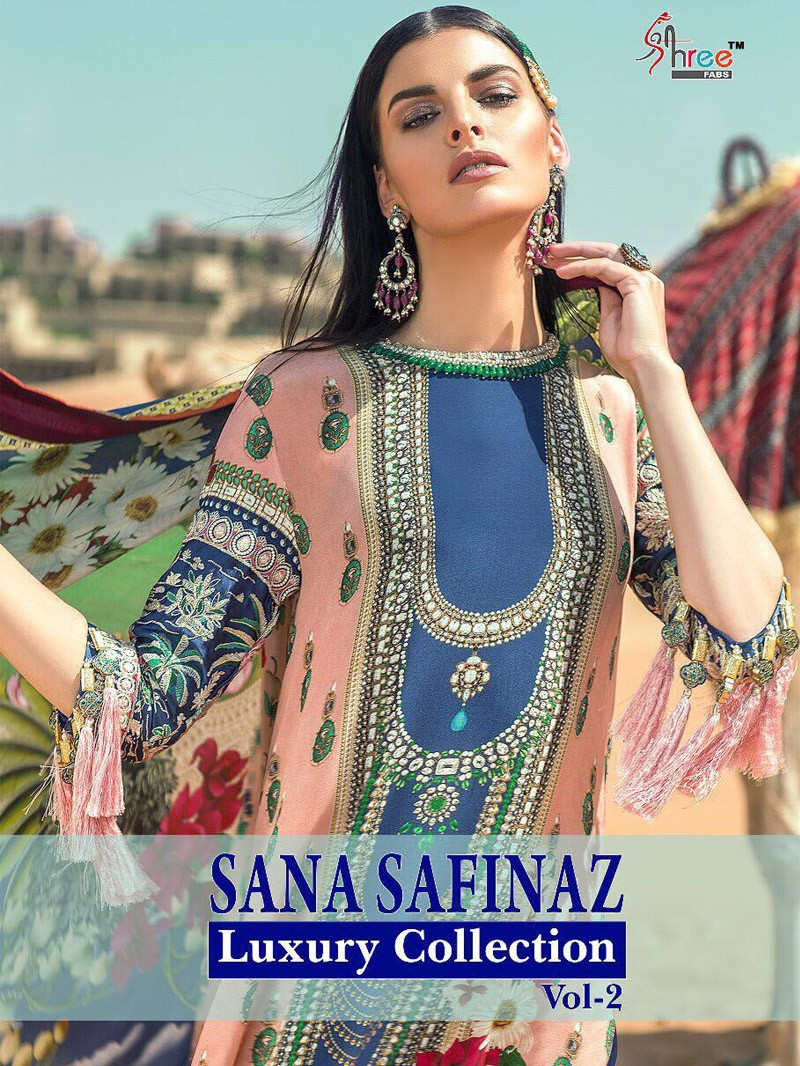 1622b02ed5 sana safinaz luxury collection vol-2 by shree fab - salwar kameez catalogue  surat wholesale